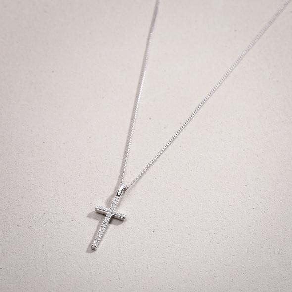 Kette - Zirkonia Cross