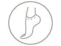 Fußkette - White Gold
