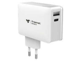 freenet Basics Power Delivery Travel-Charger USB-C/USB-A