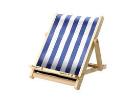 Buchständer aus Holz / Blau-Weiß gestreift